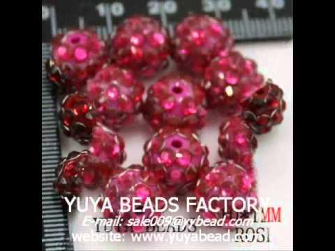 Acrylic Crystal Resin Rhinestone Jewelry Spacer Beads Charm