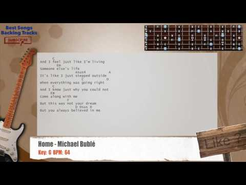 Home - Michael Bublé Guitar Backing Track with chords and lyrics