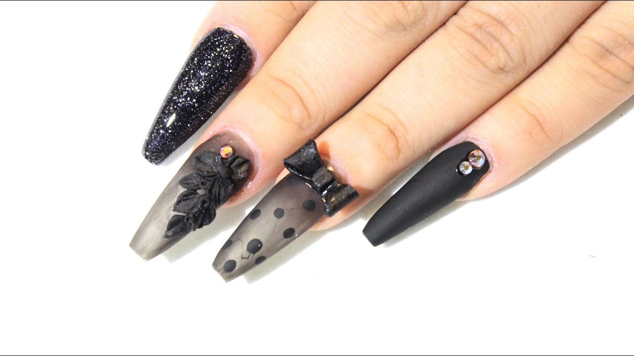 How To Black Sheer Nails