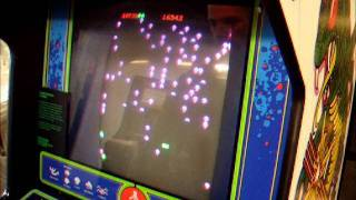 Classic Bug Blasting Centipede Arcade Machine in Play from National Media Museum Bradford