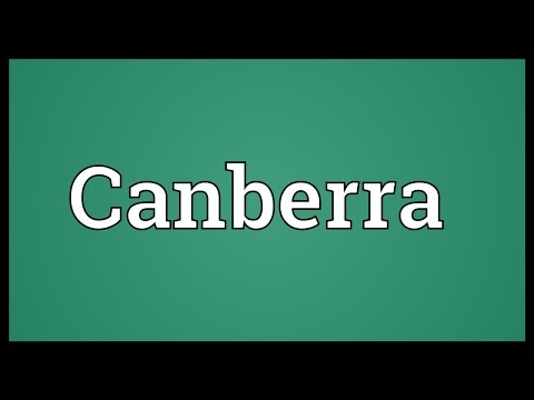 Canberra Meaning