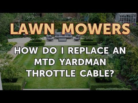 How Do I Replace An Mtd Yardman Throttle Cable Youtube