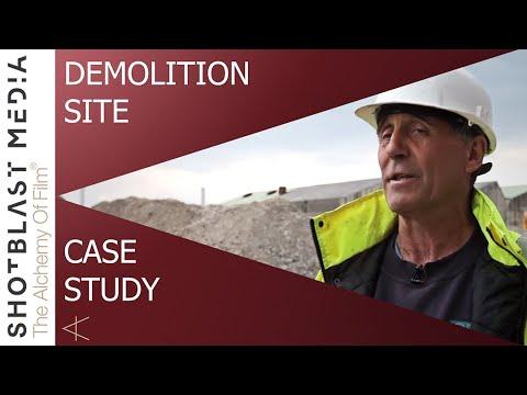 Demolition case study video & video for tender for Bagnall UK - A Shot Blast Media video production