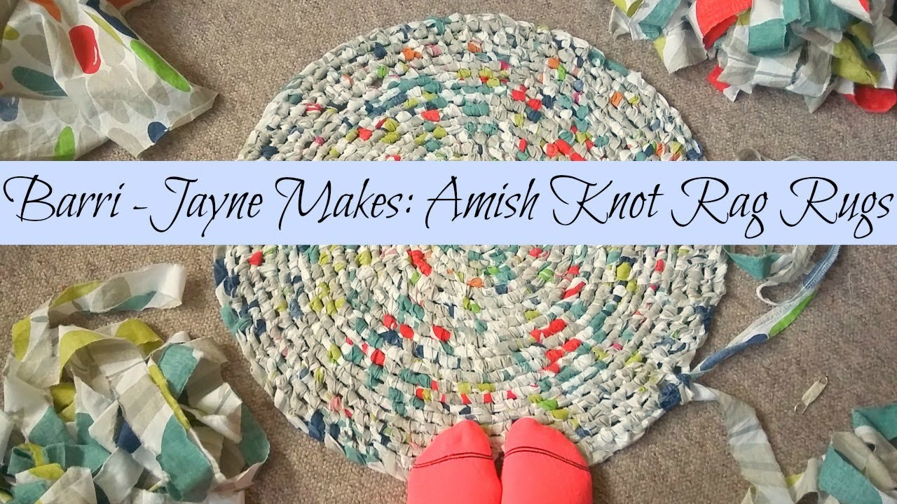 How To Make A Round Amish Knot Toothbrush Rag Rug Tutorial