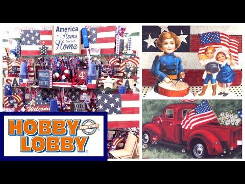 HOBBY LOBBY RED WHITE & BLUE PATRIOTIC DECOR 2019