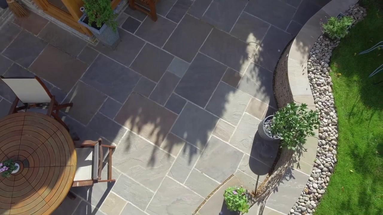 Raj Blend Sandstone Patio - YouTube