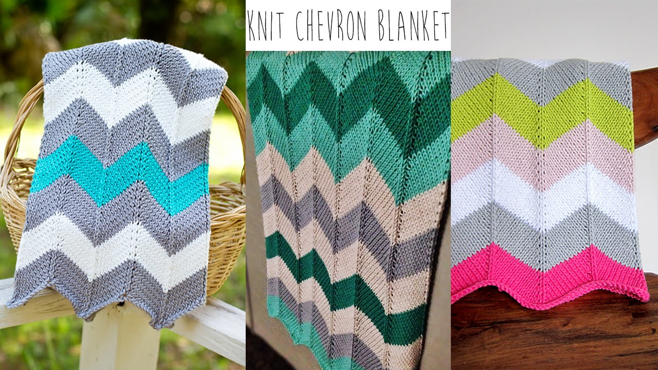 Chevron Afghan Pattern Knit : KNITTING TUTORIAL-CHEVRON BLANKET - YouTube