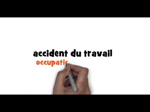 How to write occupational accident in French