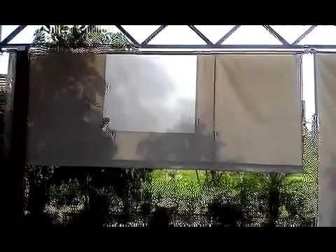 Cortinas de lona enrollables  YouTube