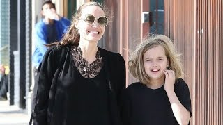 Angelina Jolie Looks Ecstatic While Taking Her Little Artist, Vivienne To Buy Supplies In L.A.