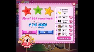 Candy Crush Saga Level 265 ★★★ NO BOOSTER NEW