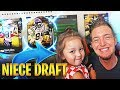 3 YEAR OLD LITTLE GIRL DRAFTS STACKED MUT DRAFT TEAM!! Madden NFL Draft Champions