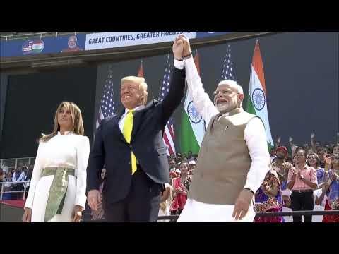 Trump - Modi speeches at Namaste Trump event in Motera Stadium, Ahmedabad, Gujarat, India