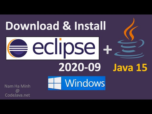 Install Eclipse IDE 2020-09 with OpenJDK 15