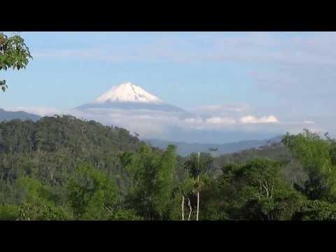 Sangay Volcano towering above the clouds  Macas Ecuador