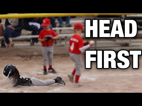 THIS 3 YEAR OLD LOVES TO SLIDE IN BASEBALL | LITTLE LEAGUE TEE BALL GAME
