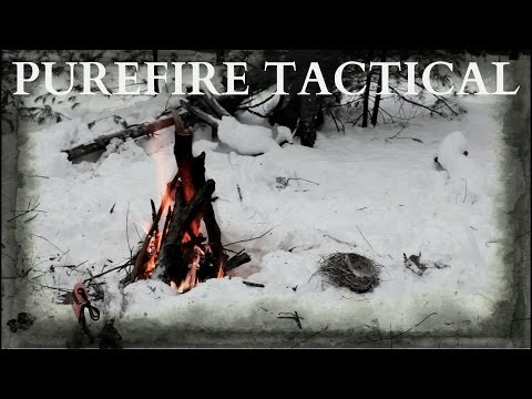 Purefire Tactical Magnesium Firestarter Review- How To Start A Fire In The Wet Winter Woods