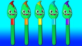 Aprende los colores con Groovy el Marciano y Phoebe | Dibujos animados educativos