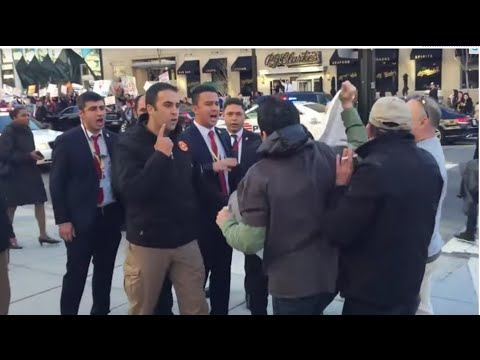 Erdogan's security guard attacked,insulted, & removed protesters in US