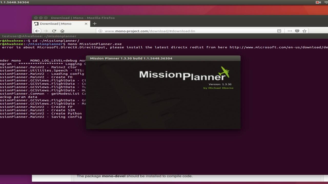 Mission Planner on Ubuntu Linux 16 04