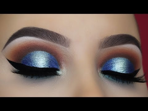 Brown and Blue Halo Eye Makeup Tutorial