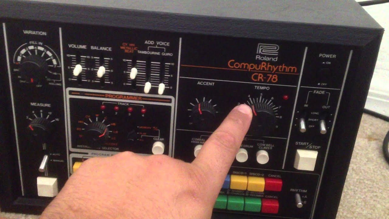 roland compurhythm cr 78 drum machine working vintage for sale youtube. Black Bedroom Furniture Sets. Home Design Ideas