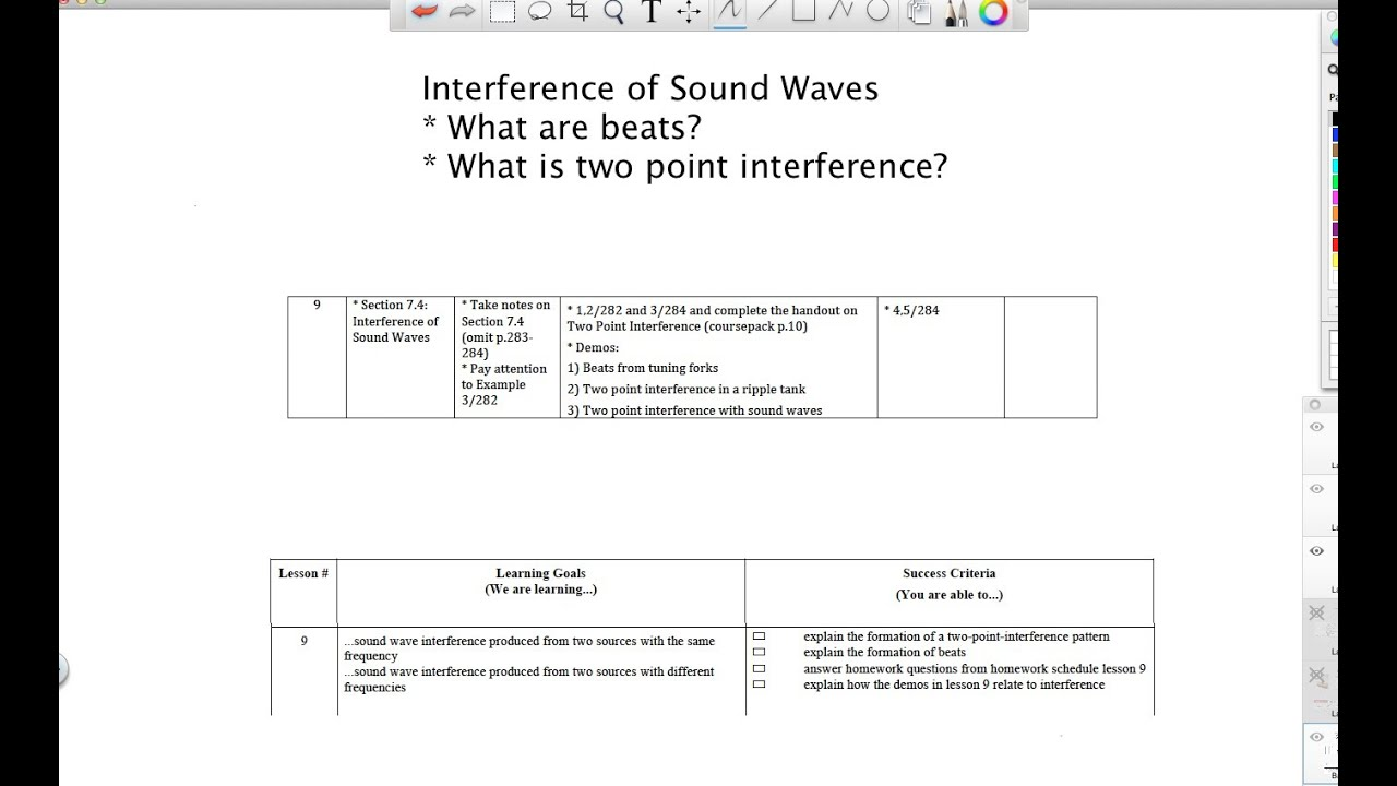 Interference of Sound Waves - Grade 11