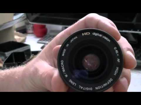 UNBOX | Wide angle lens converter | REVIEW | JVC Camcorder