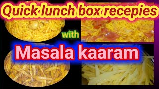 Quick lunch box recepies with masala red chilli powder