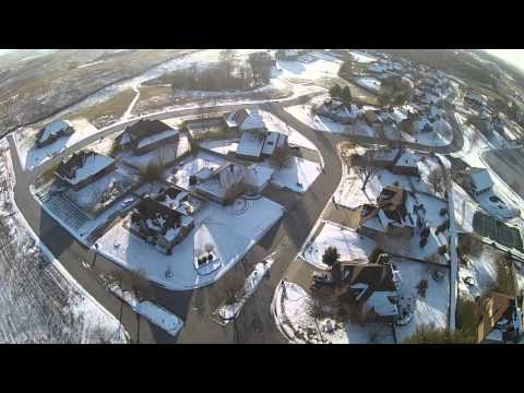 Nixa sinkhole drone exploration and high altitude video of the subdivision