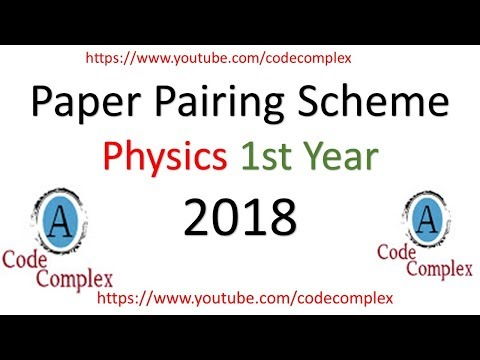 Physics Paper Scheme - Physics Pairing Scheme 1st year 2018 [Assessment Scheme]