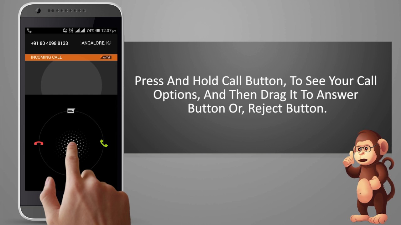How To Answer Or Reject A Call On HTC Mobile smart phones user guide support