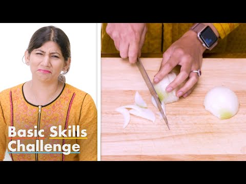 50 More People Try to Dice an Onion | Epicurious