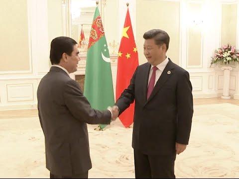 Xi Meets Turkmenistan President in Tashkent