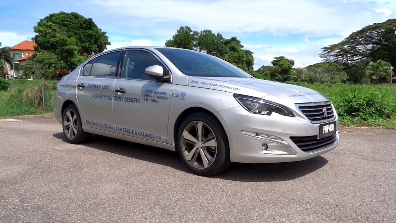 2016 peugeot 408 e-thp start-up and full vehicle tour - youtube