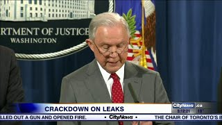 Jeff Sessions pledges crackdown on White House leaks Free HD Video