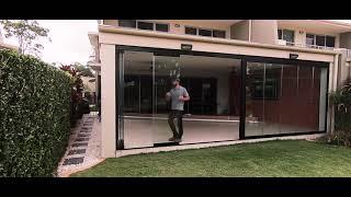 Frameless Stacker Doors