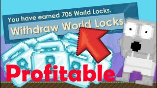 Growtopia: Buying a buy+ world (5Dls/DAY) Amazing profit trading worlds