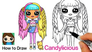 How to Draw a Fashionista Girl | LOL Surprise Candylicious Fashion Doll