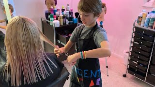 Download 11-Year-Old Aspiring Celeb Hairstylist Runs a Hair Salon In His Parents' Basement Mp3 and Videos