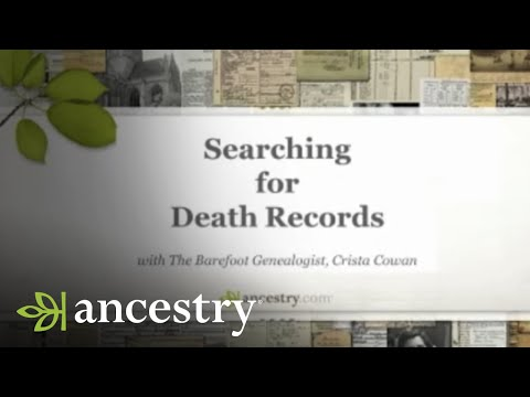 Searching for Death Records