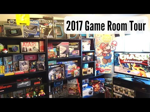 2017 Game Room Tour! Retro & Current Gen Consoles & Games Funded By eBay Reselling