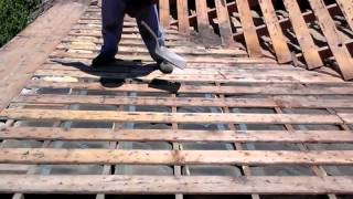 How to Remove Roofing materials:  Wood shake, shingles removal , step by step made easy
