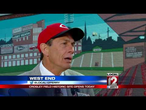 Historic site of Crosley Field opens to public