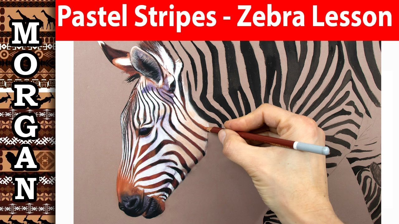 Pastel Painting / Pastel Pencils - Drawing Stripes / Zebra