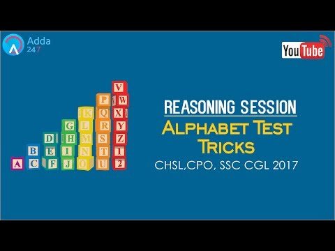Alphabet Test Reasoning Tricks For SSC CGL 2017