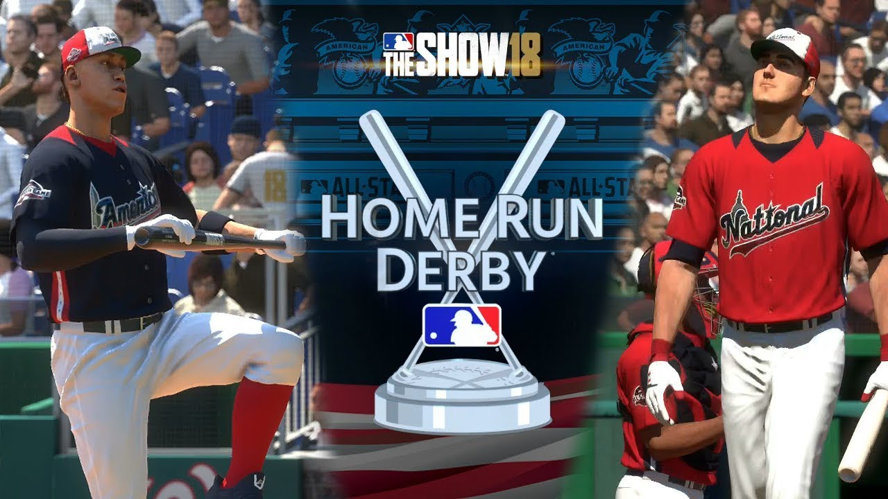 MLB the Show 18 Home Run Derby Gameplay Nationals Park PS4 MLB 18 The Show  - YouTube