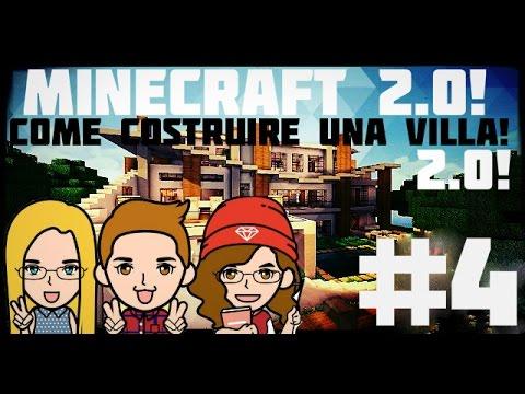 Tutorial minecraft 3 come costruire una villa spettac for Costruire una villa