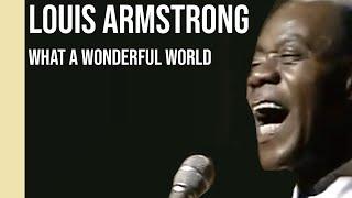 Gambar cover Louis Armstrong - What A Wonderful World (1968) | sub Español + lyrics