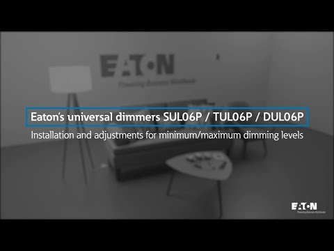How to install: Eaton's universal dimmers SUL06P/TUL06P/DUL06P